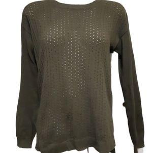 Joe fresh | light knit green sweater